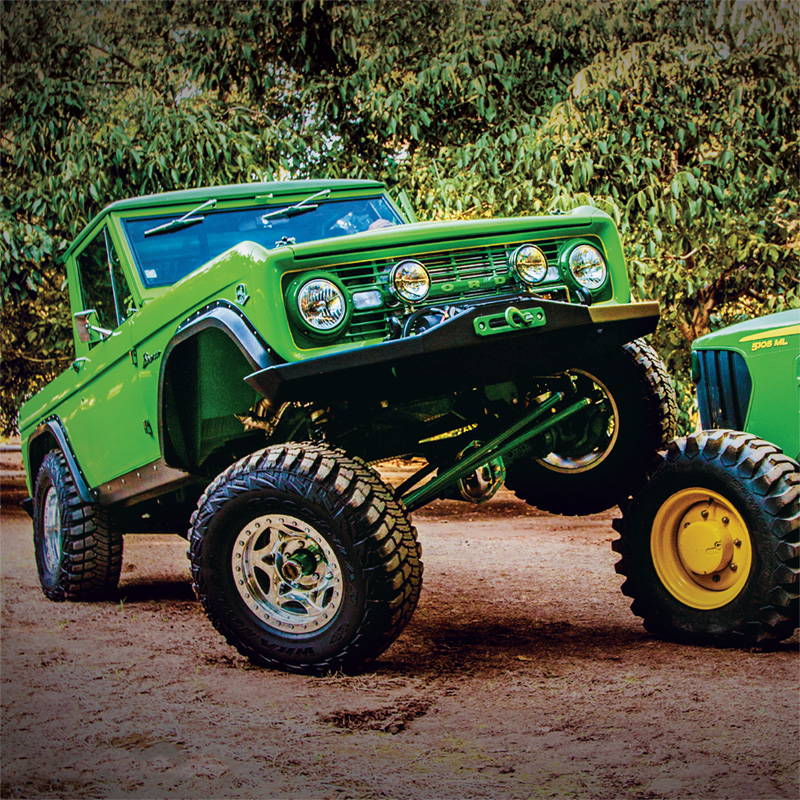 John Deere Bronco with Fab Series® Custom Steering