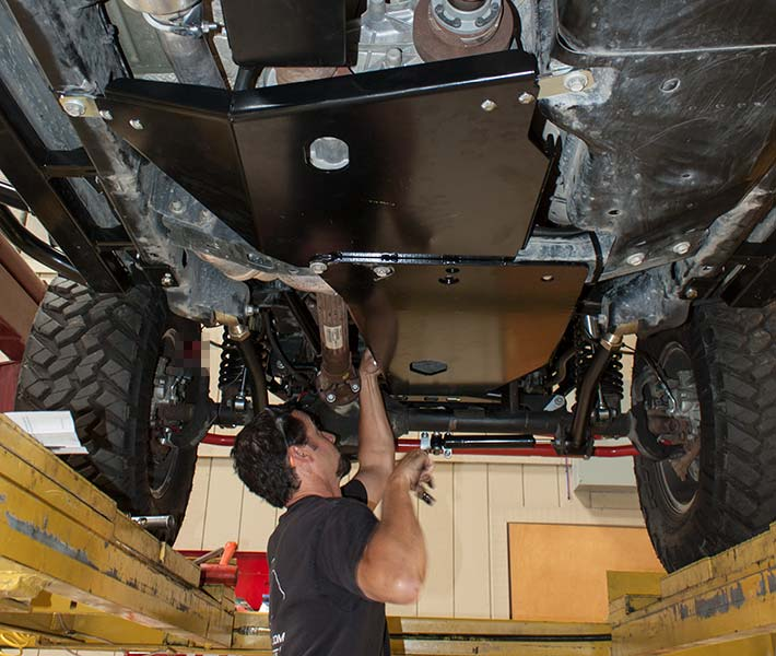 wrangler skid row offroad skid plates installed