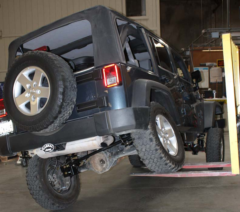 project jk jeep wrangler steering and suspension lift kit installed flex test