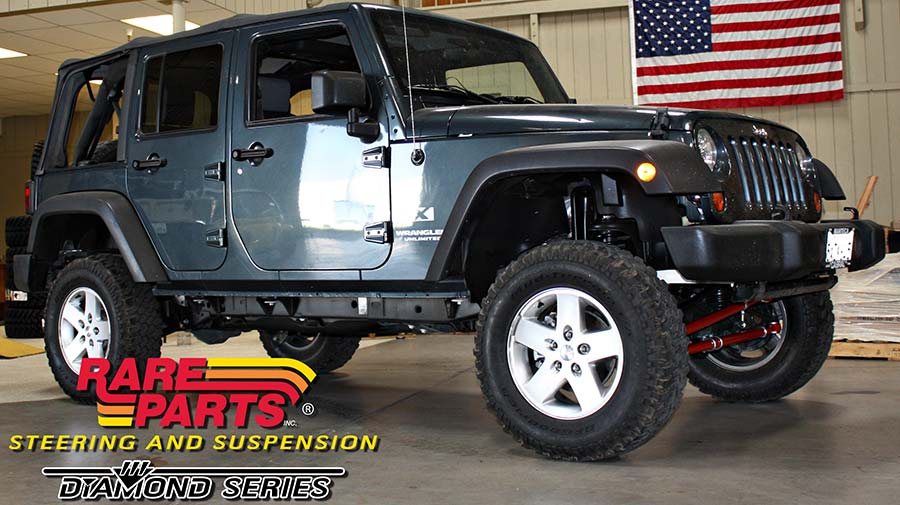 project jk 2007 jeep wrangler steering and suspension lift kit installed