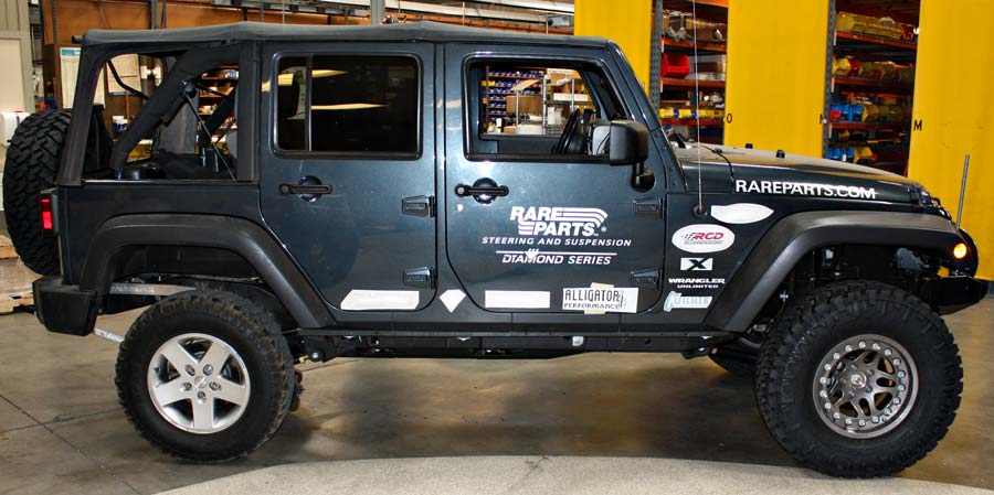 project jk Argent Hutchinson rock monster bead lock wheels with nitto tire compared to OE